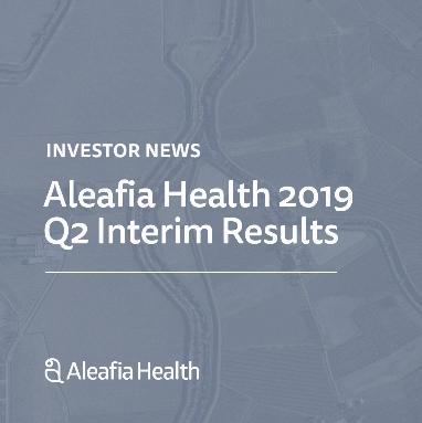 Aleafia Health Reports Record Revenue in Q2 2019, 159% Q/Q Revenue Increase