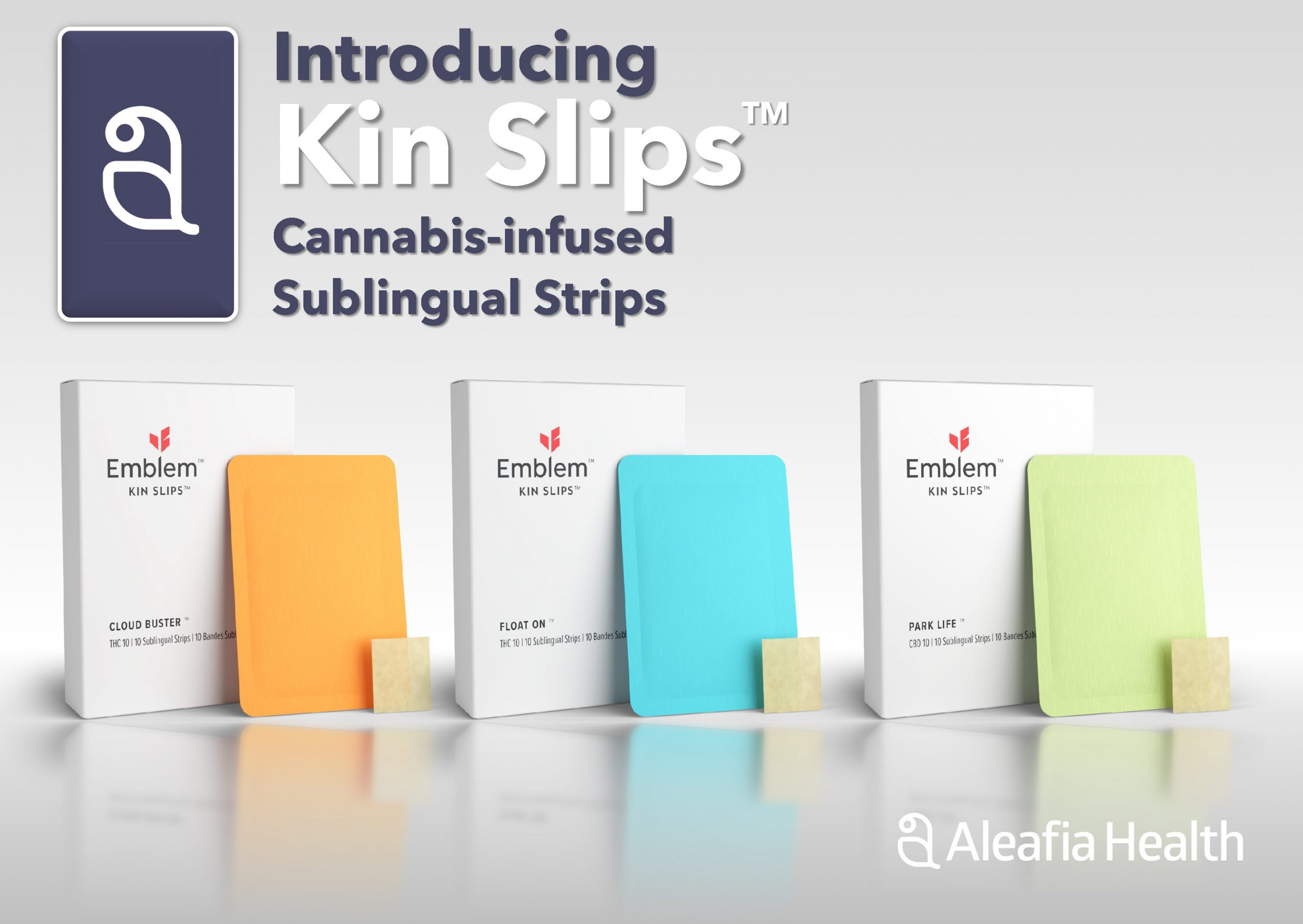 Aleafia Health Launches Kin Slips® Rapid Onset Cannabis-Infused Sublingual Strips