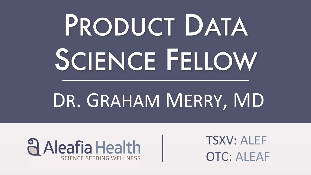 Aleafia Health to Accelerate Research Division with Appointment of Product Data Science Fellow