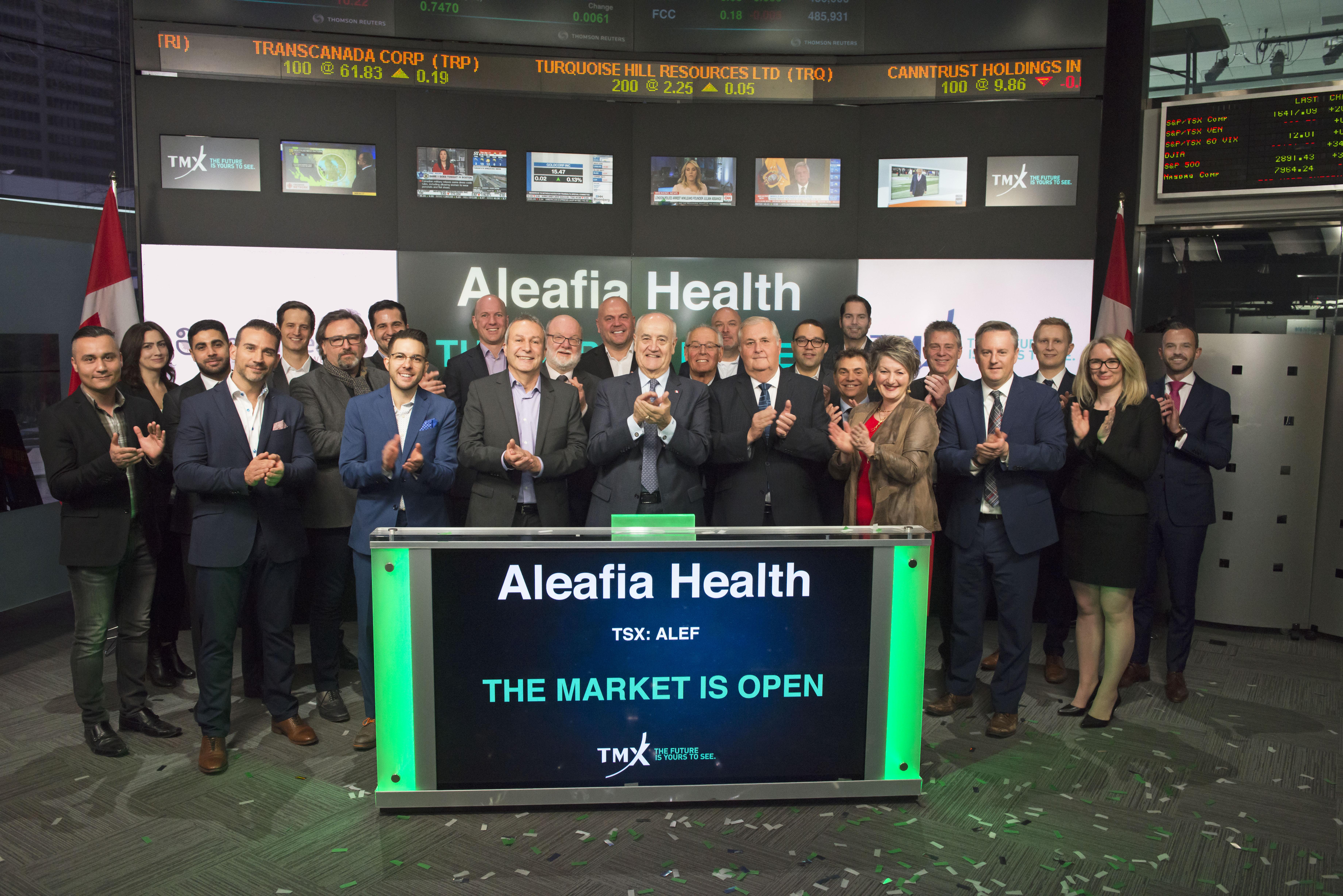 Aleafia Health Opens the Market