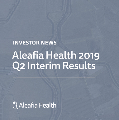 Aleafia Health Reports Record Revenue in Q2 2019, 159% Q/Q Revenue Increase